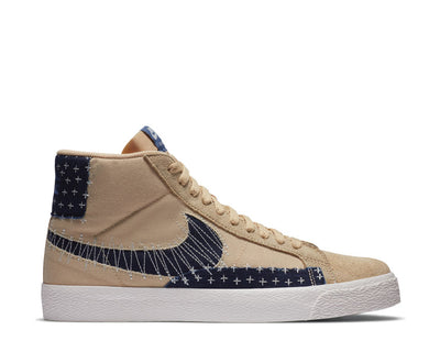 Nike SB Zoom Blazer Mid Premium Sesame / Mystic Navy - Sail - Gum Light Brown CT0715-200