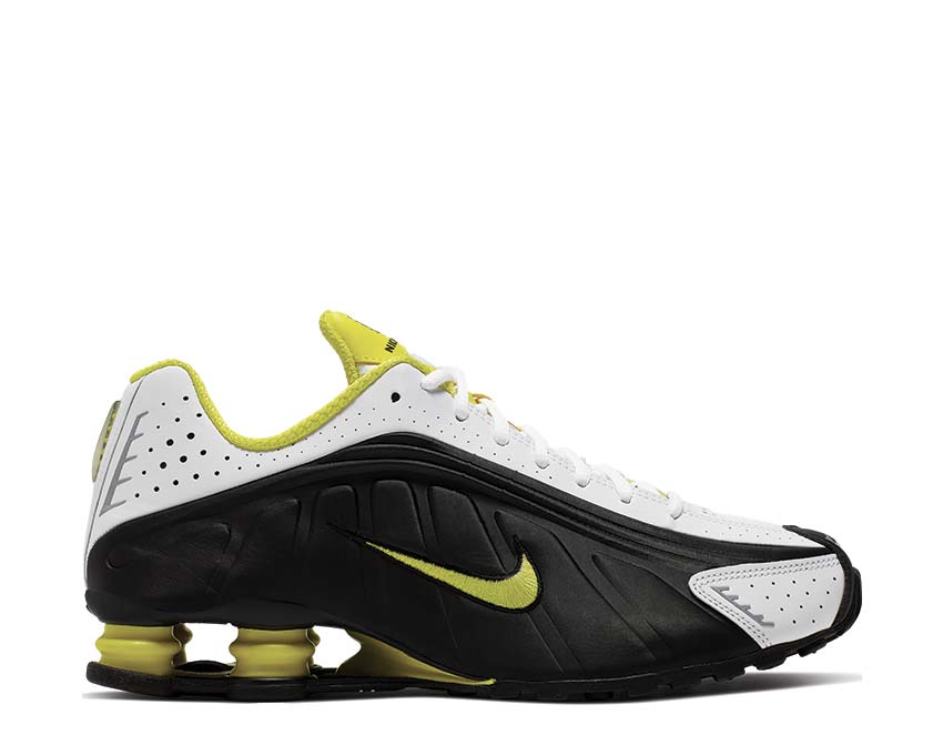 Nike Shox R4 Black Dynamic Yellow White 104265-048