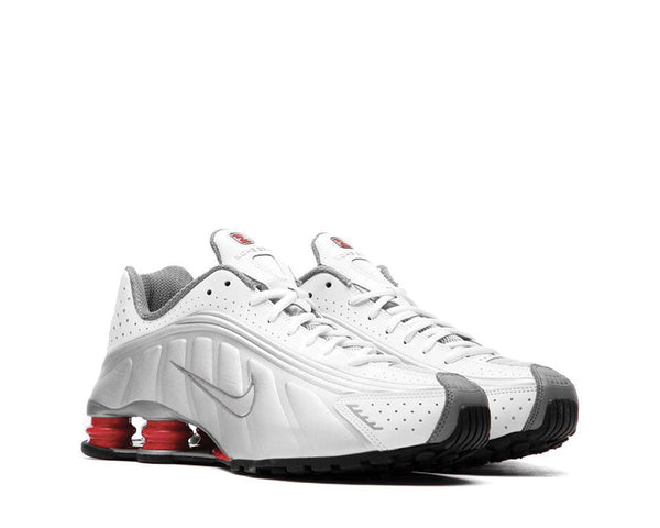 1fbc50fb198 ... Nike Shox R4 White Metallic Silver Comet Red Black BV1111-100 ...