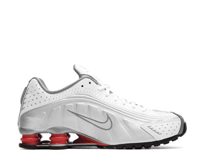 Nike Shox R4 White Metallic Silver Comet Red Black BV1111-100