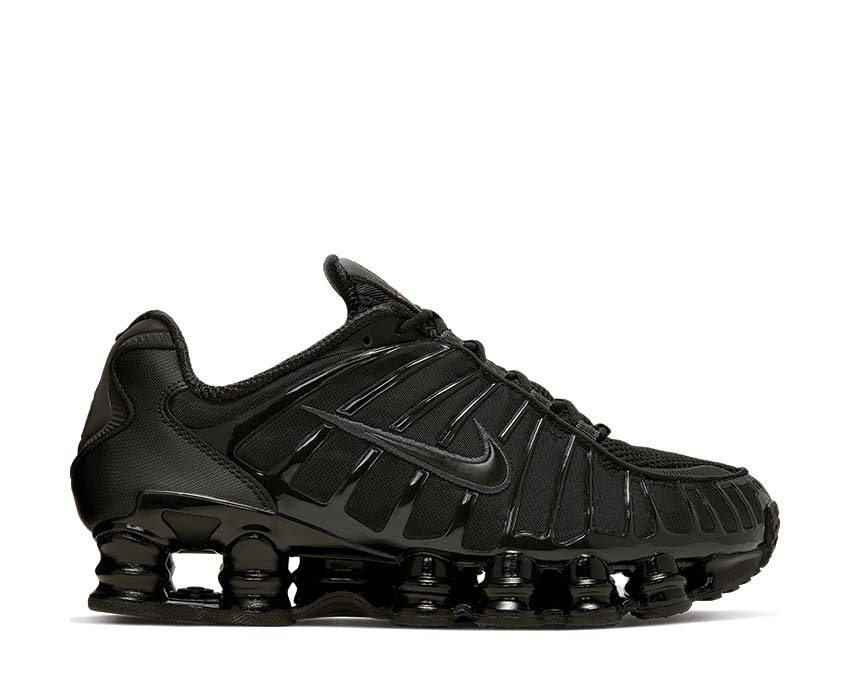 Nike Shox TL Black Metallic Hematite Max Orange AV3595-002
