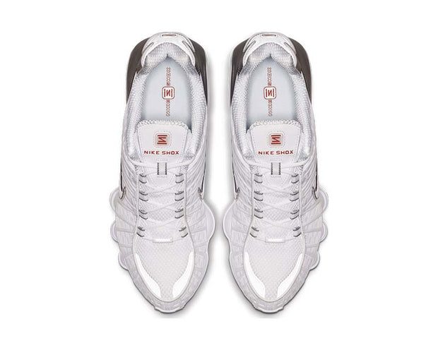 Nike Shox TL White Metallic Silver Max Orange AV3595-100