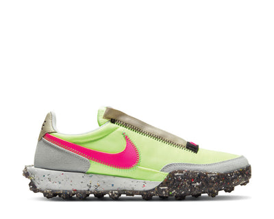 Nike Waffle Racer Crater Foam Barely Volt / Pink Blast - Black CT1983-700