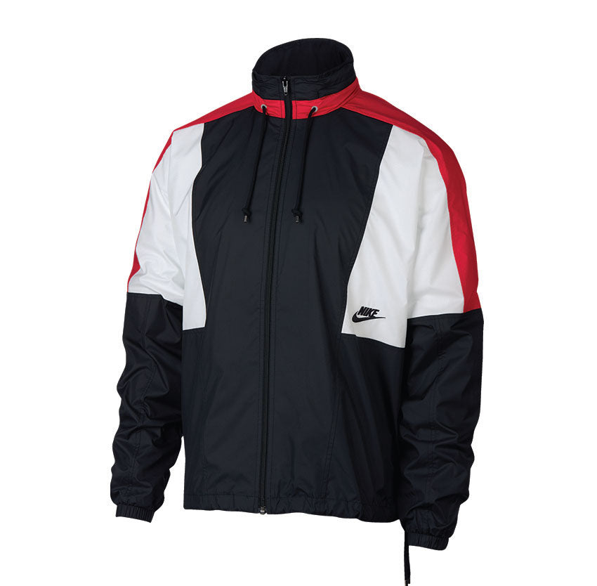 Nike Woven Jacket Black University Red Summit White Black AQ1890 010