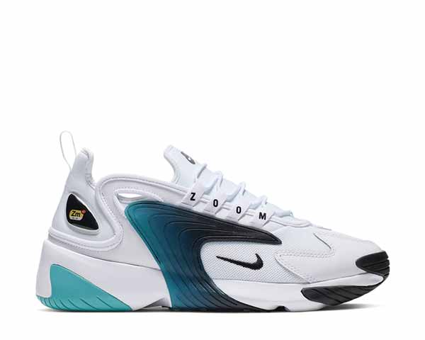 Nike Zoom 2K White Black Teal Nebula AO0269-106