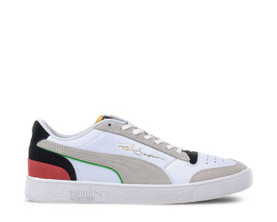 Puma Ralph Sampson Lo WH White - Black - High Risk Red 374749 01