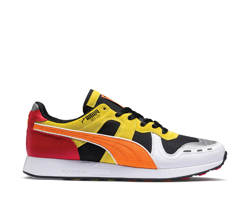 Puma Roland RS100 Black White Vibrant Orange 368405 01