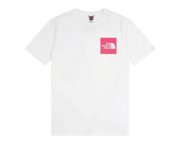 The North Face M S/S Fine Tee White / Pink NF00CEQ5P811