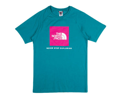 The North Face M S/S Raglan Redbox Tee Jaiden Green NF0A3BQOH8E1