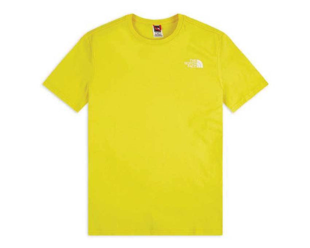 The North Face M SS RNBW T-Shirt Lemon / White NF0A4M6PP761