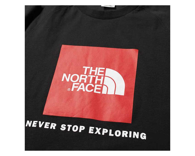 the The North Face S/S Raglan Red Box Black T93BQOJK3