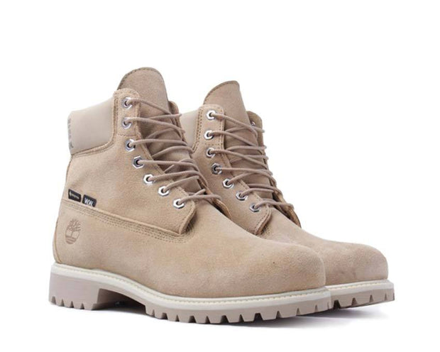 Timberland Wood Wood Premium 6 Inch Boot Waterproof Medium Beige Suede TB0A28N3257