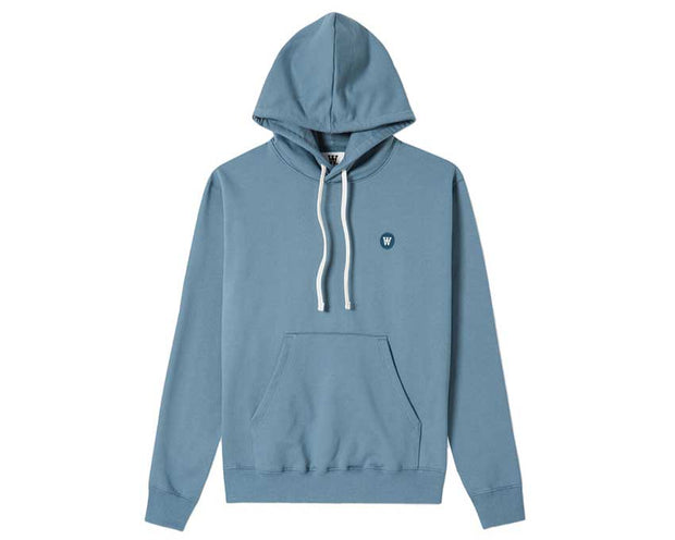 Wood Wood Double A Ian Hoodie Dusty Blue