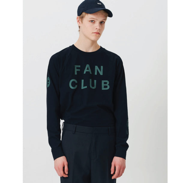 Wood Wood Han Long Sleeve Navy 11835410-2334