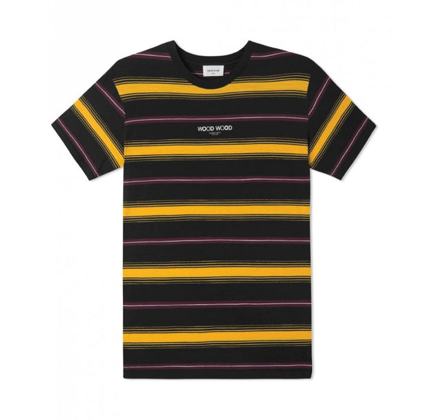 Wood Wood Perry T-shirt Yellow Stripes 11835727-2061