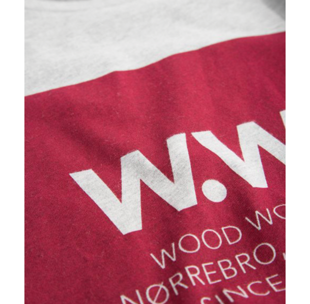 Wood Wood Square T-Shirt Grey Melange 11815722-2334