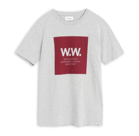 Wood Wood Square T-Shirt Grey Melange