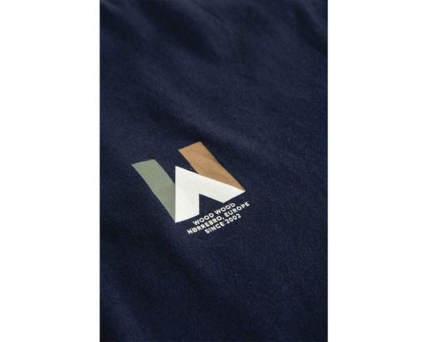 Wood Wood Tipi T-shirt Navy 11935715-2334