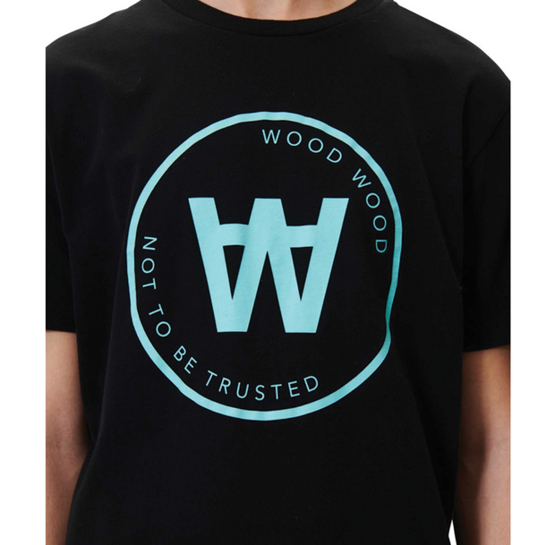 Wood Wood AA Seal T-Shirt Black