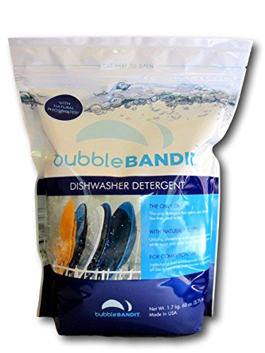 One Bag (3.75 lbs.) Bubble Bandit Dishwasher Detergent with Natural Phosphate
