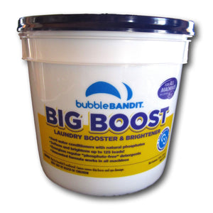 BIG BOOST Laundry Brightener With Natural Phosphates. Boosts your regular laundry soap. 125 Loads in a 7.8 lb pail