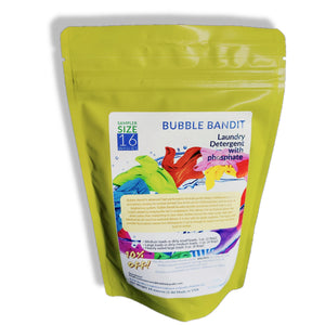 SAMPLER SIZE- Bubble Bandit Laundry Detergent Powder with Phosphates. 16 loads in a 1 pound bag