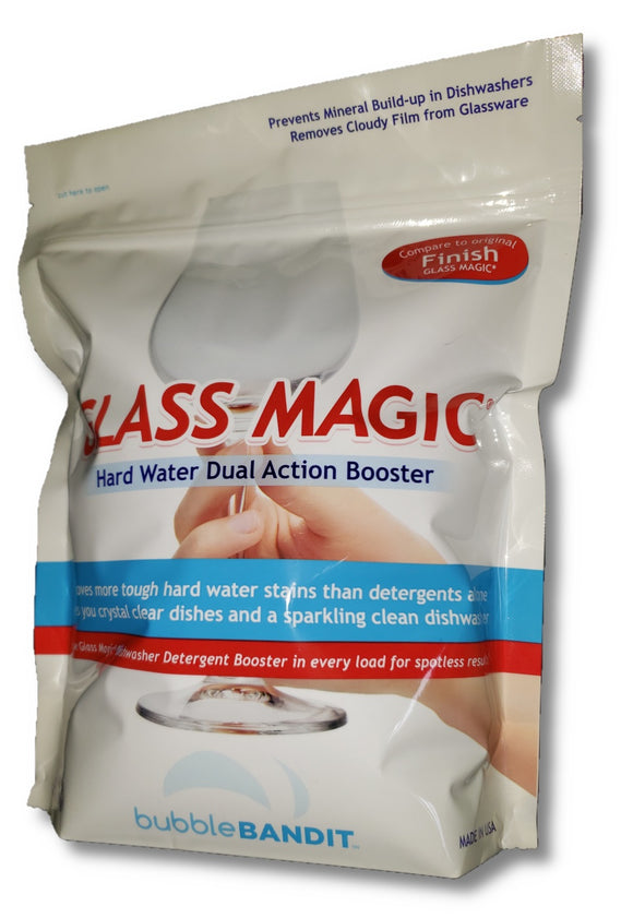 Glass Magic Dishwasher Cleaner With Natural Phosphates- One Bag (2 lb) Eliminates odors and greasy crud in the bottom of your machine