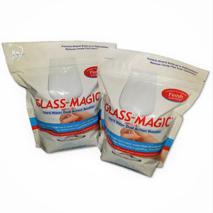 Glass Magic Dishwasher Cleaner With Natural Phosphates- Two Bags (4 lb) Eliminates odors and greasy crud in the bottom of your machine