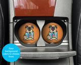 Pug Car Coasters - Sandstone car coasters - Set of 2