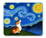 Pembroke or Cardigan Corgi Mouse Pad - Starry Baroo - My Dog Is My Co-Pilot