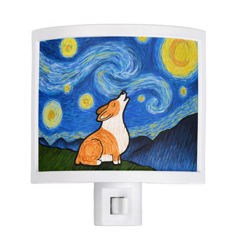 Starry Baroo Corgi Night Light - My Dog Is My Co-Pilot