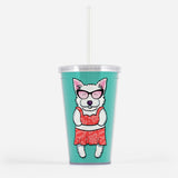 Sunbathing Westies Beverage Tumbler