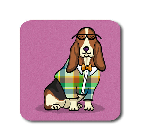 Basset Hound Coasters - Set of 4