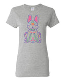 Women's Color Sugar Skull French Bulldog -  Short Sleeve T-shirt