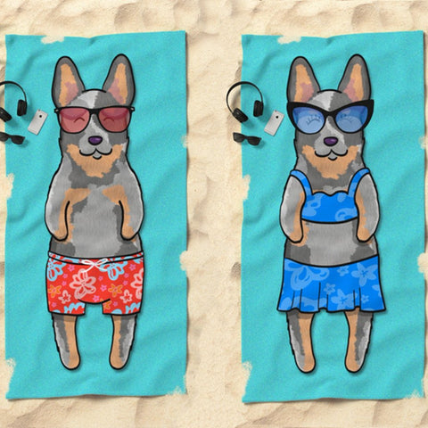 Australian Cattle Dog - Blue Heeler Beach Towel