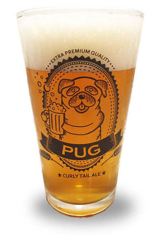 Pug Pint Glass