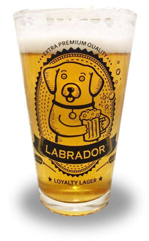 Labrador Pint Glass
