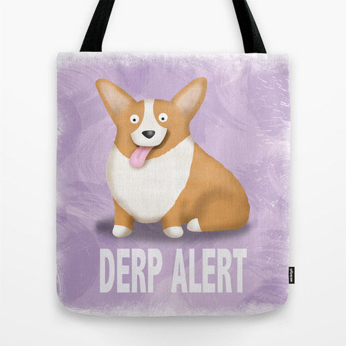Pembroke Corgi Tote Bag - Derp - My Dog Is My Co-Pilot