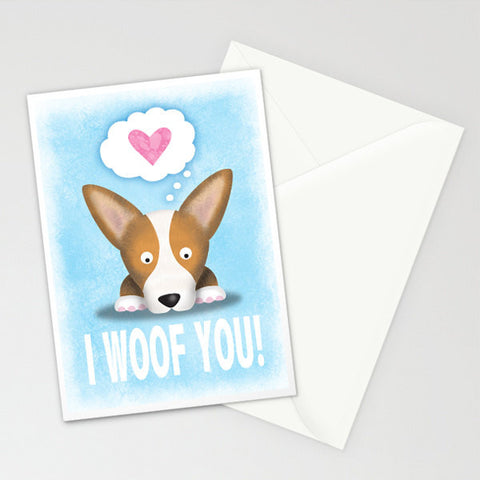 Corgi Card - Pembroke I Woof You - My Dog Is My Co-Pilot