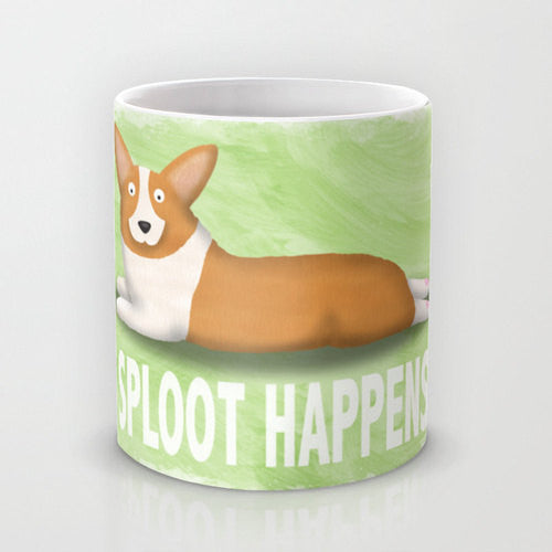 Corgi Coffee Mug -Pembroke Sploot Happens - My Dog Is My Co-Pilot