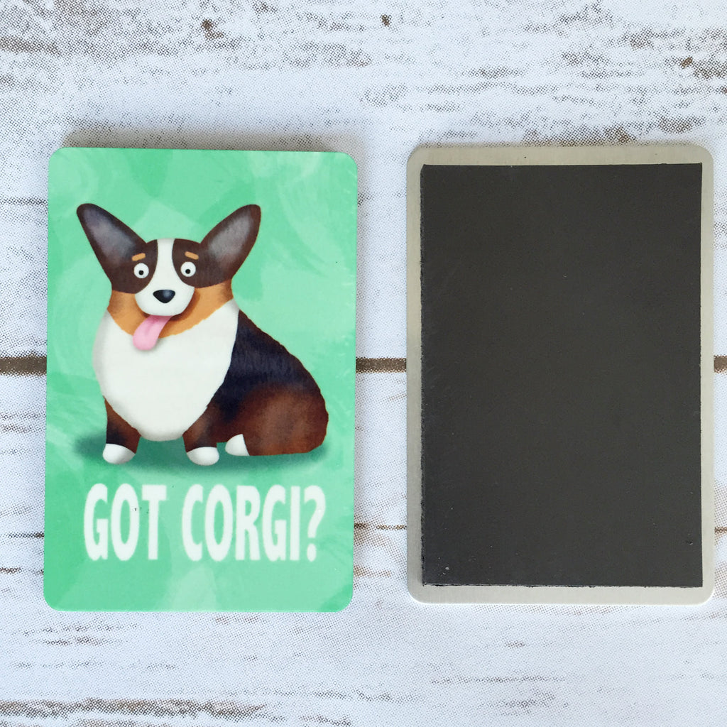 Corgi Magnet - Got Corgi? - Black Tri Color Corgi - My Dog Is My Co-Pilot