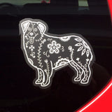 Sugar Skull Australian Shepherd Decal - My Dog Is My Co-Pilot
