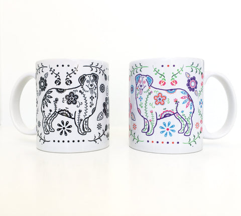 Sugar Skull Australian Shepherd Coffee Mug - My Dog Is My Co-Pilot
