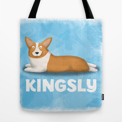 PERSONALIZED Sploot Pembroke Welsh Corgi Tote Bag - My Dog Is My Co-Pilot