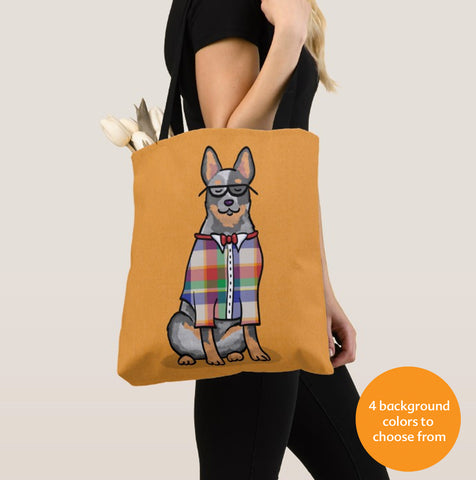 Australian Cattle Dog - Blue Heeler Hipster/Geek Tote Bag