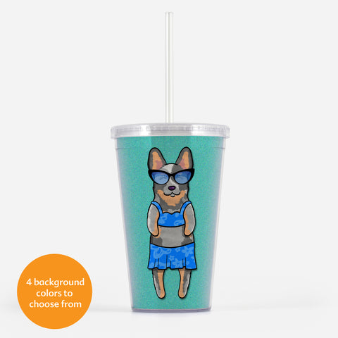 Australian Cattle Dog - Blue Heeler Beverage Tumbler