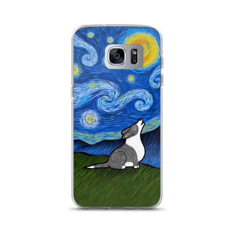 Starry Baroo Corgi Samsung Case - Black and White Cardigan
