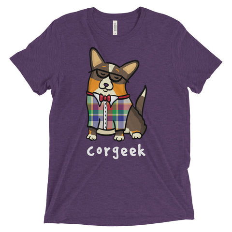Corgeek - Black Headed Tri with tail - Unisex Corgi Shirt