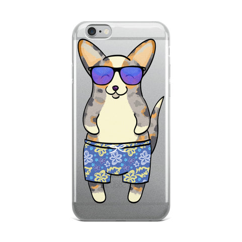 Fluff in the Sun - Merle/Tan with Tail iPhone 6/6s, 6/6s Plus Case