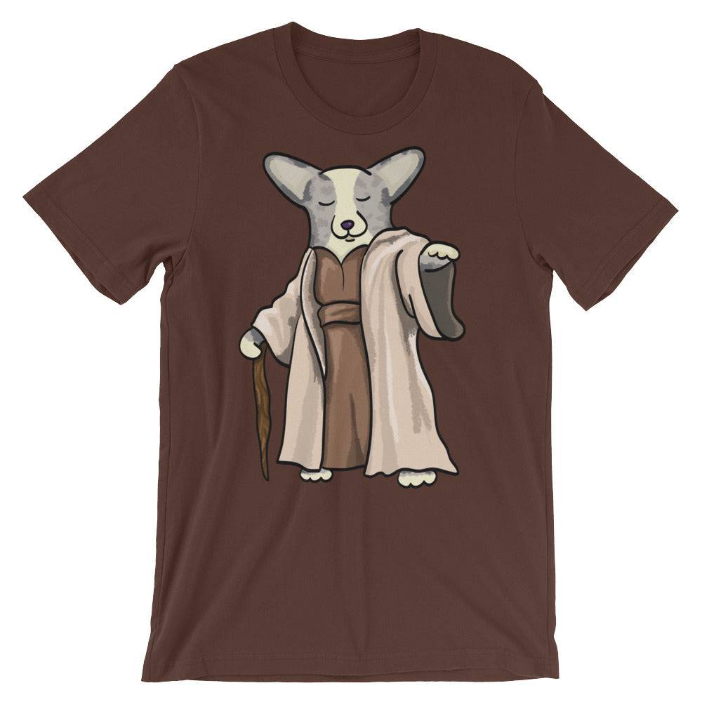Yoda Corgi Tee Shirt - Merle (no tail) - Unisex short sleeve t-shirt